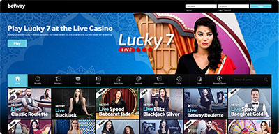 Betway live casino India