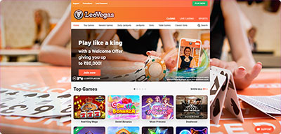 LeoVegas Casino India screenshot