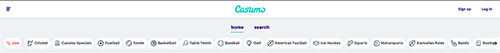 Casumo online sports betting screenshot