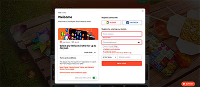 quick facebook or google sign up to play Teen Patti