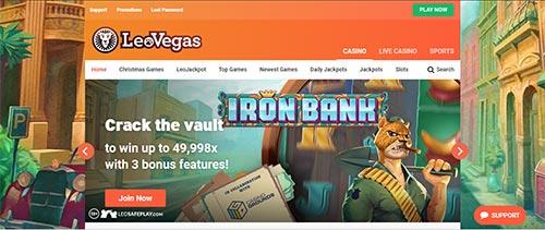 LeoVegas online sports betting India screenshot