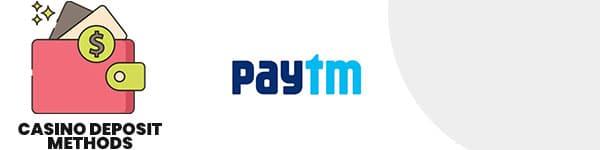 Paytm casino deposit method
