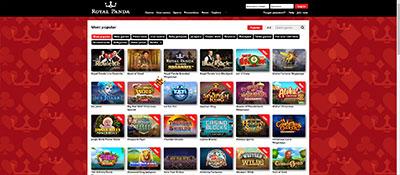 Royal Panda casino games and slots