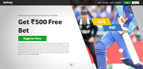 Betway get 500 INR free campaign