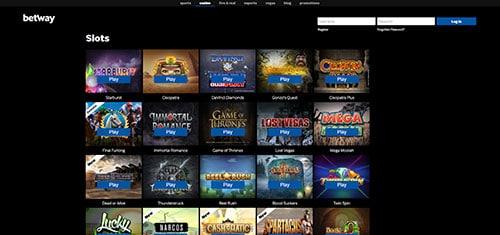 Betway India casino games
