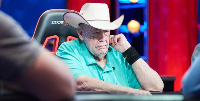 Doyle Brunson playing poker