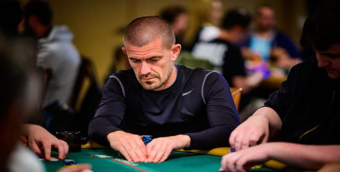 Gus Hansen playing poker