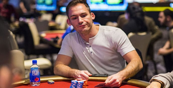 Justin Bonomo chip leader