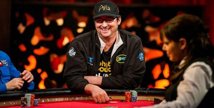 Phil Hellmuth playing professional poker