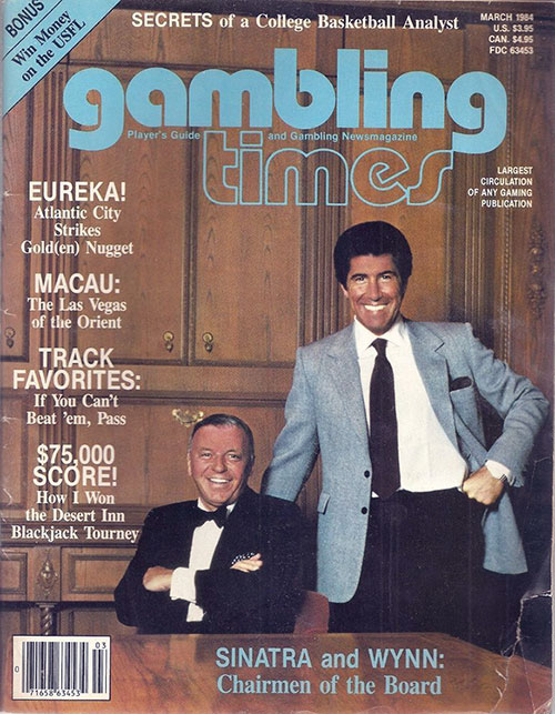 gambling times magazine cover march 1984